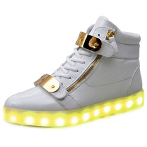 Zapatillas Con Luces Led 7 Colores Unisex 2017 Eeuu (stock)