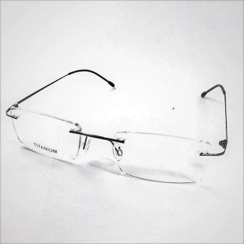 1c51a3613 Armacao Prata Grau Oculos Metal Titanium Titanio Sem Aro 408 - R$ 79,00 em  Mercado Livre