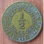 Moneda Peru Medio Sol De Oro 1935