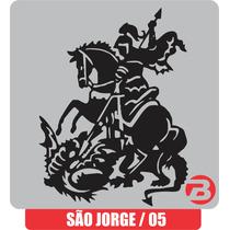 Adesivo São Jorge (5) Gerreiro Ogum 19x24,5 Cm Frete Fixo