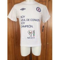 Playera Cruz Azul Campeón Copa Mx Clausura 2013 Marca Umbro