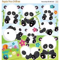 Kit Imprimible Ositos Panda 3 Imagenes Clipart
