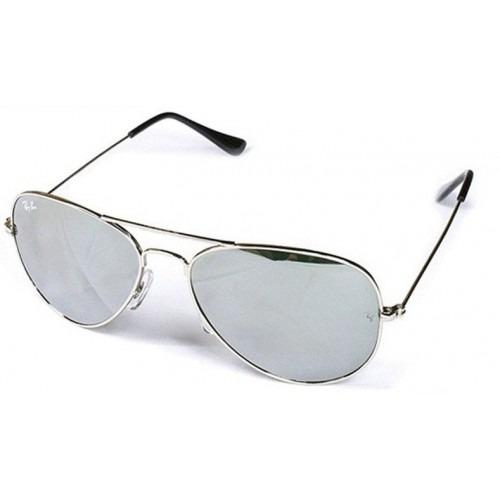 fa7f4a62ed48a Óculos Ray Ban Aviador 3025 Prata Espelhado Original Feminin - R  219