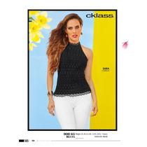 Hermosa Blusa Tejida Casual-formal De Moda Cklass