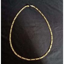 Cordão Ouro 18k Elos Grumet 3x1 32,5 Gramas Maciça