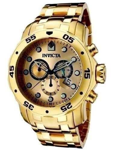 f2d061620e8 Relógio Invicta Pro Diver Scuba 0074 Banhado Ouro 18k Gold - R  467 ...