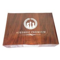 Ajedrez Premium Piezas Simil Madera 4.3