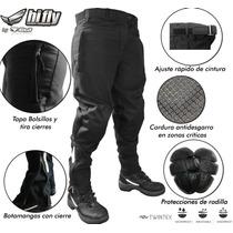 Pantalon Tela Impermeable Moto Softshell Abrigo Protecciones
