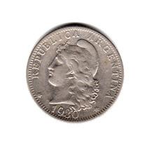 Moneda Argentina 20 Centavos 1930 Niquel Muy Buena
