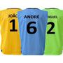 Colete Futebol Personalizado Numerado Nome - Várias Cores
