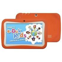 Tablet Dl E-duk Kids Capa Laranja Wi-fi Android Novo