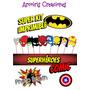 Kit Imprimible Photo Boot Superheroes Arcoiris Creaciones