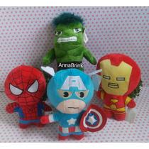 Bonecos De Pelucia Marvel Avengers Baby Coleção Com 4 Peças