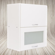 Alacena 50x60x30 Puerta De Vidrio Revatible 18mm
