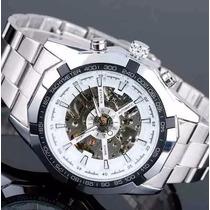 Relógio Masculino Luxo Winner Skeleton Automático Promoção
