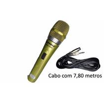 Microfone Profissional Com Fio Wg198 - Pronta Entrega
