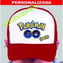 Gorra Pokemon Go Personalizada Estampadas Souvenir