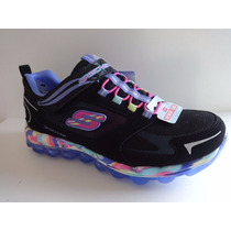 Zapatos Skechers Para Niñas Air Boun - Infused 80230l - Bkmt