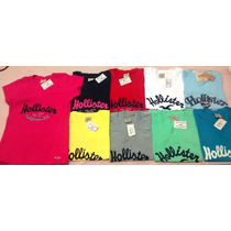 Kit C/10 Camisetas T-shirts Femininas Hollister R$179,00