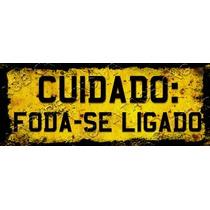 Placa Vintage King Carro Mdf 34x13 Foda-se Ligado Bcc.00079