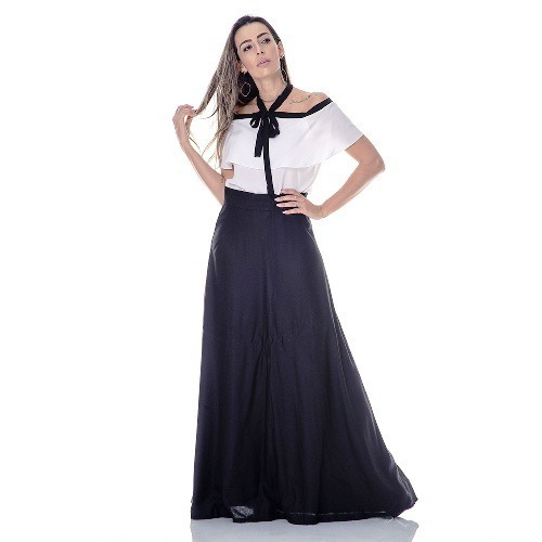 3e553f300af Saia Longa Feminina Plissada Moda Evangelica - R  89