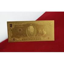 Billete Oro 2 Dos Dolares Estadounidenses El De La Suerte