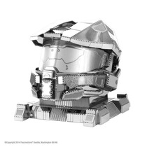 Capacete Master Chief Halo 3d Metal Model Kit Fascinations