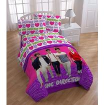 Colcha Edredon One Direction Matrimonial Importado Vv4