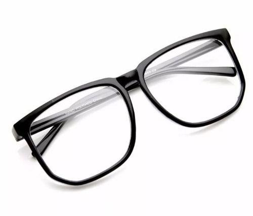aa1d81599265b Armação Nerd Retrô Grande Para Óculos De Grau - Preto Fosco - R  44 ...
