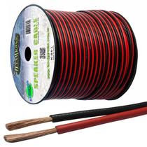 Fio Paralelo Technoise 2x3,00mm Preto E Vermelho Rolo 100 Mt
