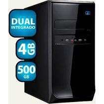 Micro Pc Desktop Atrio Dual 4gb Ddr3 Hd 500gb