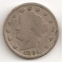 Estados Unidos, 5 Cents, 1896. F