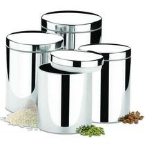 Conjunto Potes Para Mantimentos 4 Peças Aço Inox - Brinox