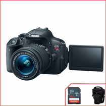 Canon T5i 18mp C/18-55mm Stm + 16gb + Bolsa Temos Loja
