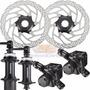 Kit Freio Disco Shimano Tx805 Cubos Rm35 32f 36f Rotor Rt30
