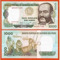 Peru Billete De 1000 Soles De Oro Año 1987 Sin Circular