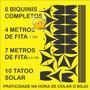 Biquini Adesivo Bronzeamento Natural + Tatu Solar + Fita Kit