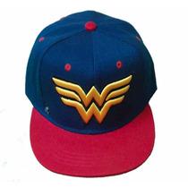 Gorra Wonder Woman Logo Bicolor Original Monster