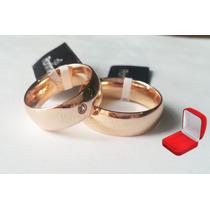 Rommanel Par Aliança Dourada E Grossa Para Casamento A1p.
