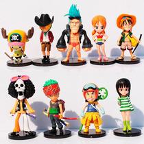 Kit 9 Miniaturas Do One Piece Para Coleção - Disponível