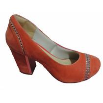 Sapato Salto Baixo Feminino Fechado 36