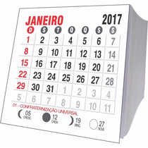 Bloco Calendário 5 X 5 - 2017