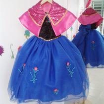 Disfraz Vestido Con Capa De Ana De Frozen