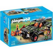 Retromex Playmobil 5558 Pick Up Con Canoa Vida Salvaje