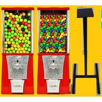 Maquina Chiclera Doble + Frutita + Chicles + Pedestal