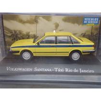 Miniatura Vw Santana Táxi Rio De Janeiro - Veículos Serviço