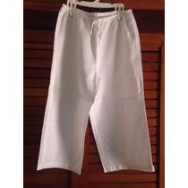 Pantalon Capri O Pescador De Lino 100% Nuevo De Dama Talla L