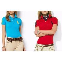 Kit 5 Camiseta Polo Feminina /tommy/ Ralph