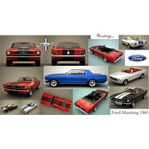 Lienzo Tela Collage Automóvil Ford Mustang 1965 50 X 90 Cm