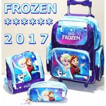 Kit Mochila Infantil Rodinha Frozen Original Chenson Brinde